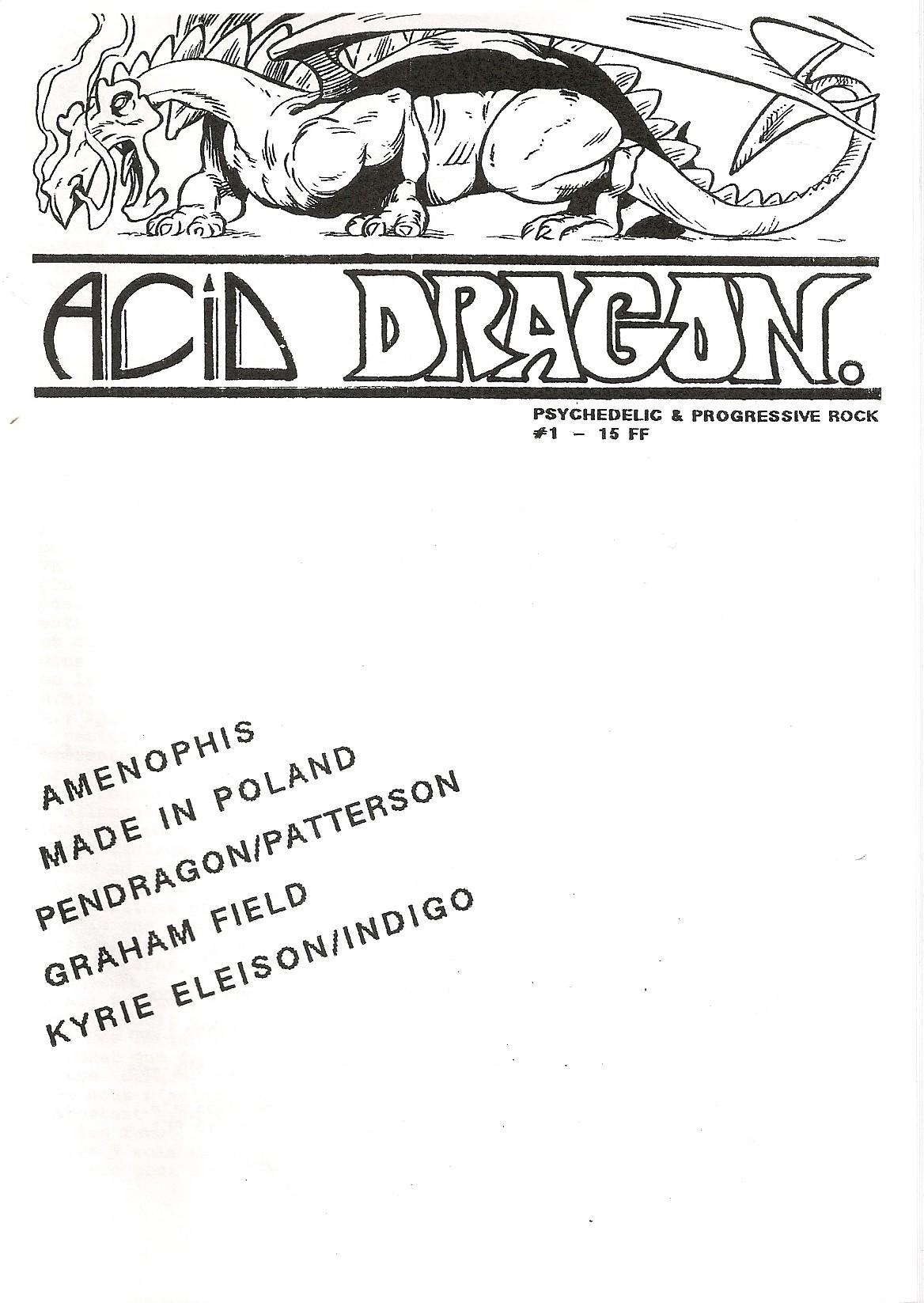 ACID DRAGON - n°01 - Magazine