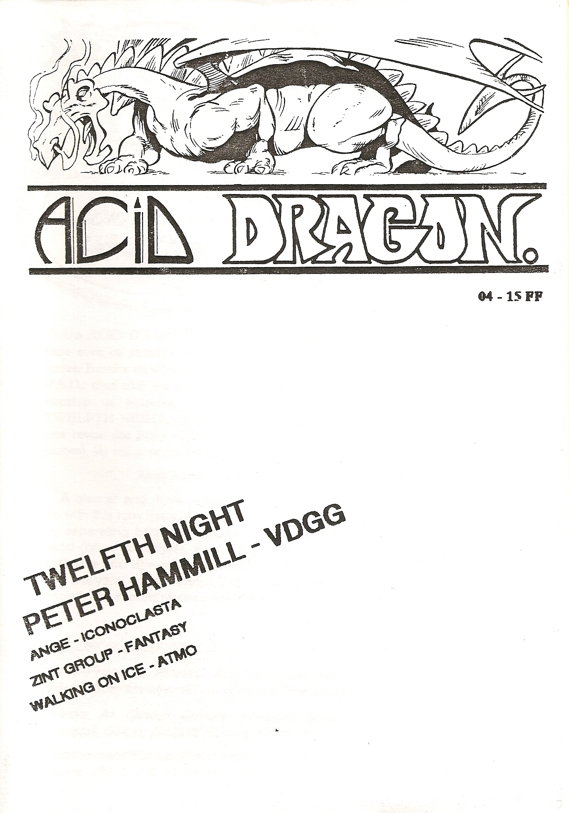 ACID DRAGON - n°04 - Magazine