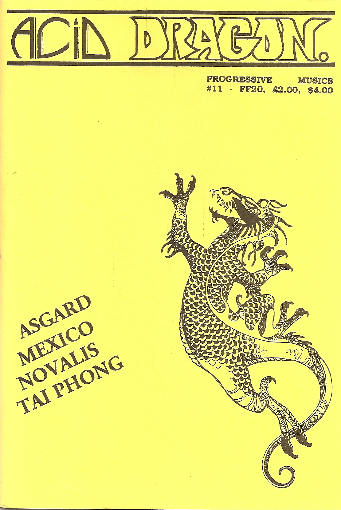 ACID DRAGON - n°11 - Magazine