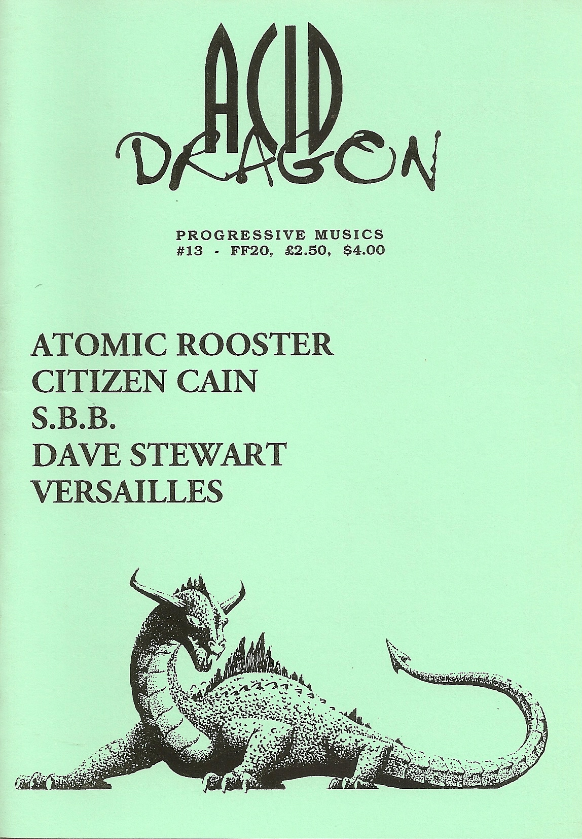 ACID DRAGON - n°13 - Magazine